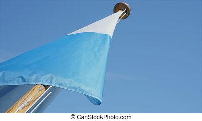 Bavarian Flag on ship - Bavarian flag on the back of a ship...