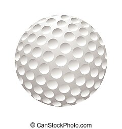 Golfball realistic vector. Image of single golf equipment,...