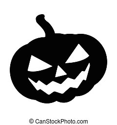 Halloween pumpkin silhouette vector illustration, Jack O...