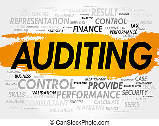 AUDITING word cloud, business concept