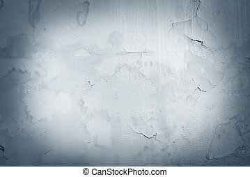 Old wallpaper on the cement background. - Old wallpaper on...