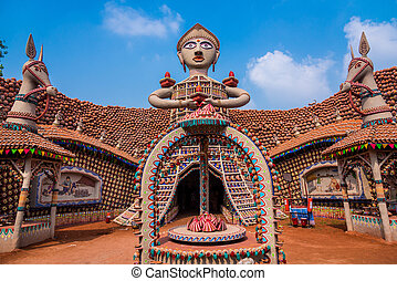 Dussera decorations - Beautiful decorated Durga Puja pandal...