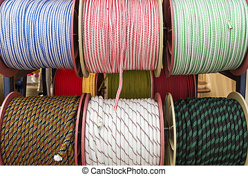 several coils of rope