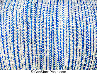 Rope white-blue background - texture.