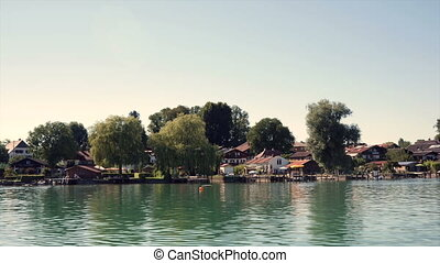 Shoreline Fraueninsel Chiemsee - Moving across the Chiemsee...