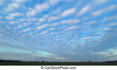 Sunset Sky. Time Lapse. 4K