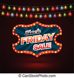 Black Friday sale banner with light color