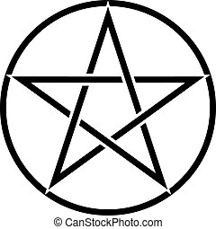 Pentagram Symbol - Star sign with magic evil spiritual...