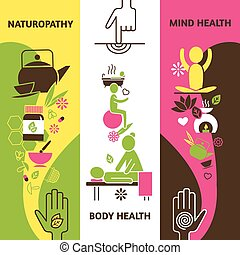 Alternative Medicine Banners Set - Alternative medicine...