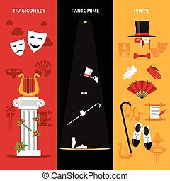 Theatre Performance Banners Set - Theatre performance...