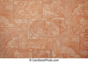old world map vintage pattern