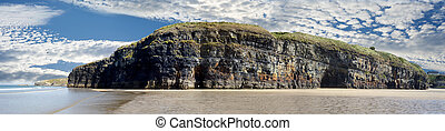 ballybunion cliffs panorama - a panorama of the cliffs and...
