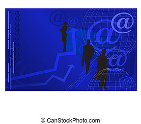 Businessmen and E-mail Icons