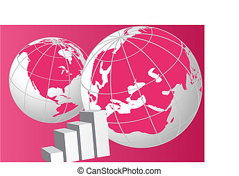 Globes - World globes and a graphi chart