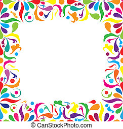Bright seamless frame, vector ilustraton - Bright seamless...