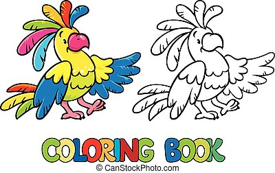 Funny parrot coloring book - Coloring book or coloring...