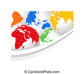 World Globes - Abstract background with world globes and...