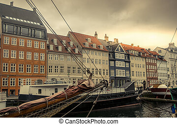 Copenhagen Nyhavn harbor - Nyhavn harbor in Copenhagen, the...