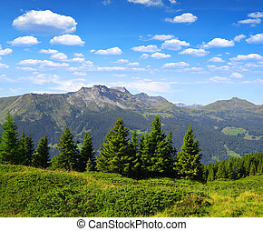 Canton of Graubunden. Switzerland - Mountain Casanna and...