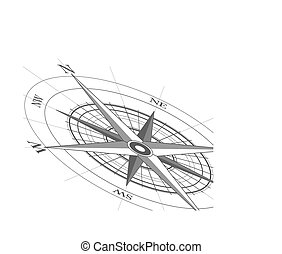 Compass - White background with a compass icon