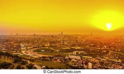 konya sunrise - konya city timelapse
