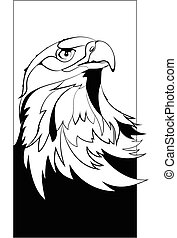 eagle head black in vector interpretation
