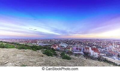 konya sunset - konya city timelapse
