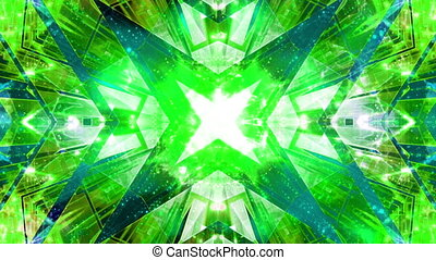 Geometric Blue Green Hyper Loop - Looping abstract blue...
