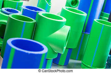 Polymer pipes - Set of big polymer pipes