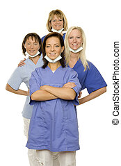 health - a group of medical assistant