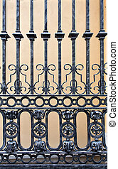 Old iron gate - Detail of a old iron gate