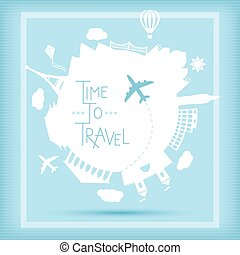 Time to travel concept - Time to travel vector illustration....