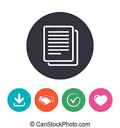 Copy file sign icon Duplicate document symbol Download...