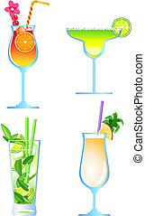 Cocktails - Clip-arts of cocktails