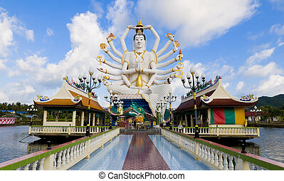 shiva statue in koh samui - statue of shiva on samui island...