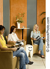waiting room - patients in a waiting room