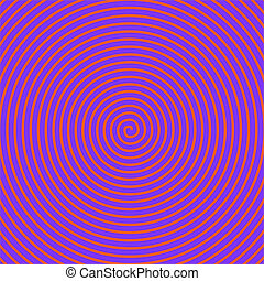 Spiral - Psychedelic red spiral over a blue background