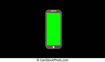 Modern Computer Tablet Animation with Green Screen