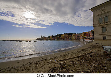 Silence bay in Sestri Levante