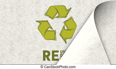 Recycle arrow design, Video Animation