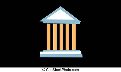 Stock Market Animated Building