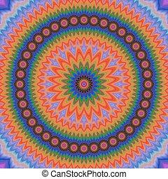 Abstract floral fractal mandala design background