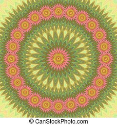 Abstract floral mandala design background