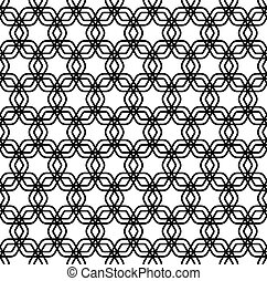 Repeating black and white grid pattern