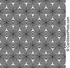 Seamless hexagonal curved line pattern - Seamless abstract...