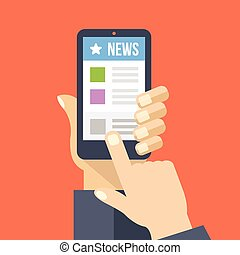 News app on smartphone screen