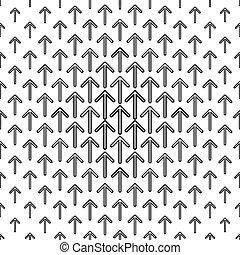 Monochrome arrow repeat pattern - Black and white arrow...
