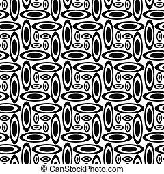Monochrome ellipse repeat pattern - Monochrome concentric...