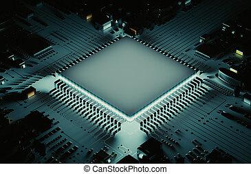 el, Fuerte, microprocesador,