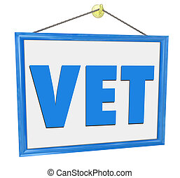 Veterinarian Clinic Medical Office Animal Pet Doctor Sign -...